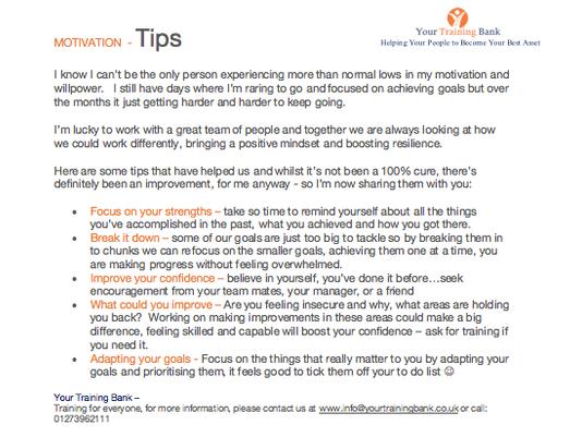 Motivation - Tips