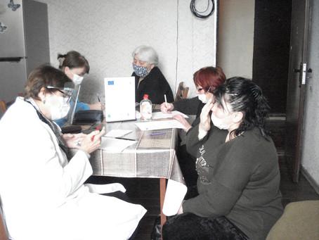 სამედიცინო ჯგუფის მორიგი ვიზიტი გორის დევნილთა ცენტრში