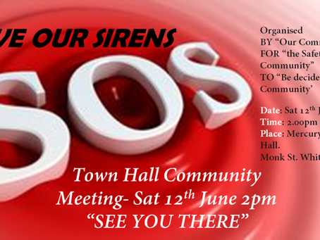 Community Siren Meeting 12th June