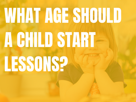 What age should a child start piano lessons?