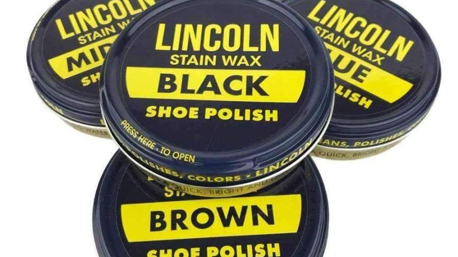 Lincoln Shoe Polish Wax 3oz
