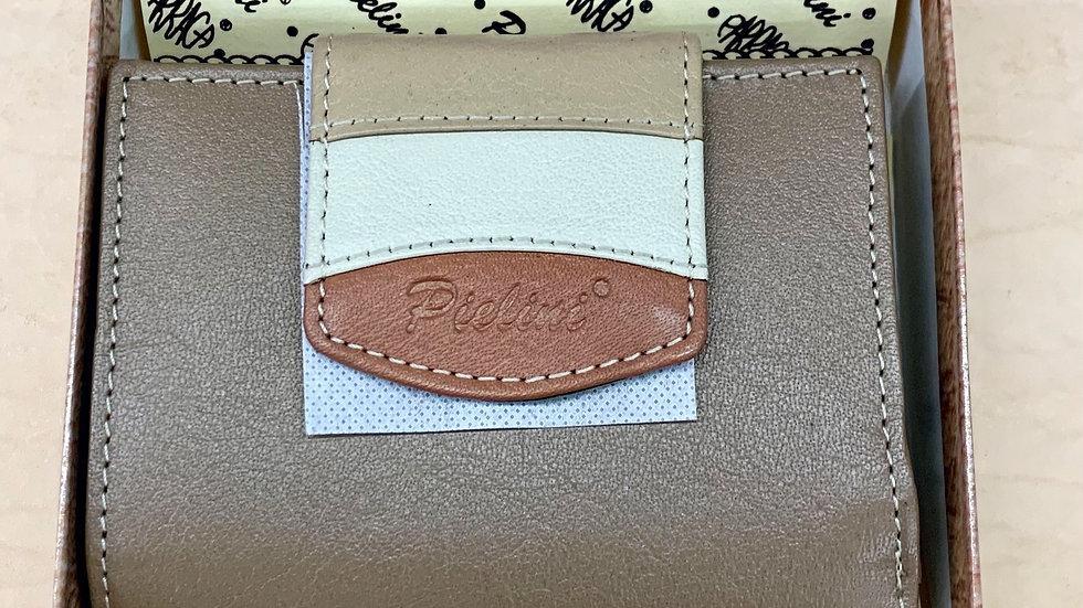 Pielini Wallet #4046 Taupe/Tan