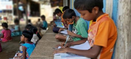 Classes on Verandah in Bolki Shala