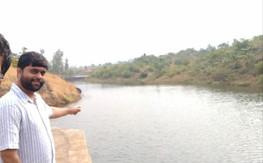 Water storage in Cement Nala Bund