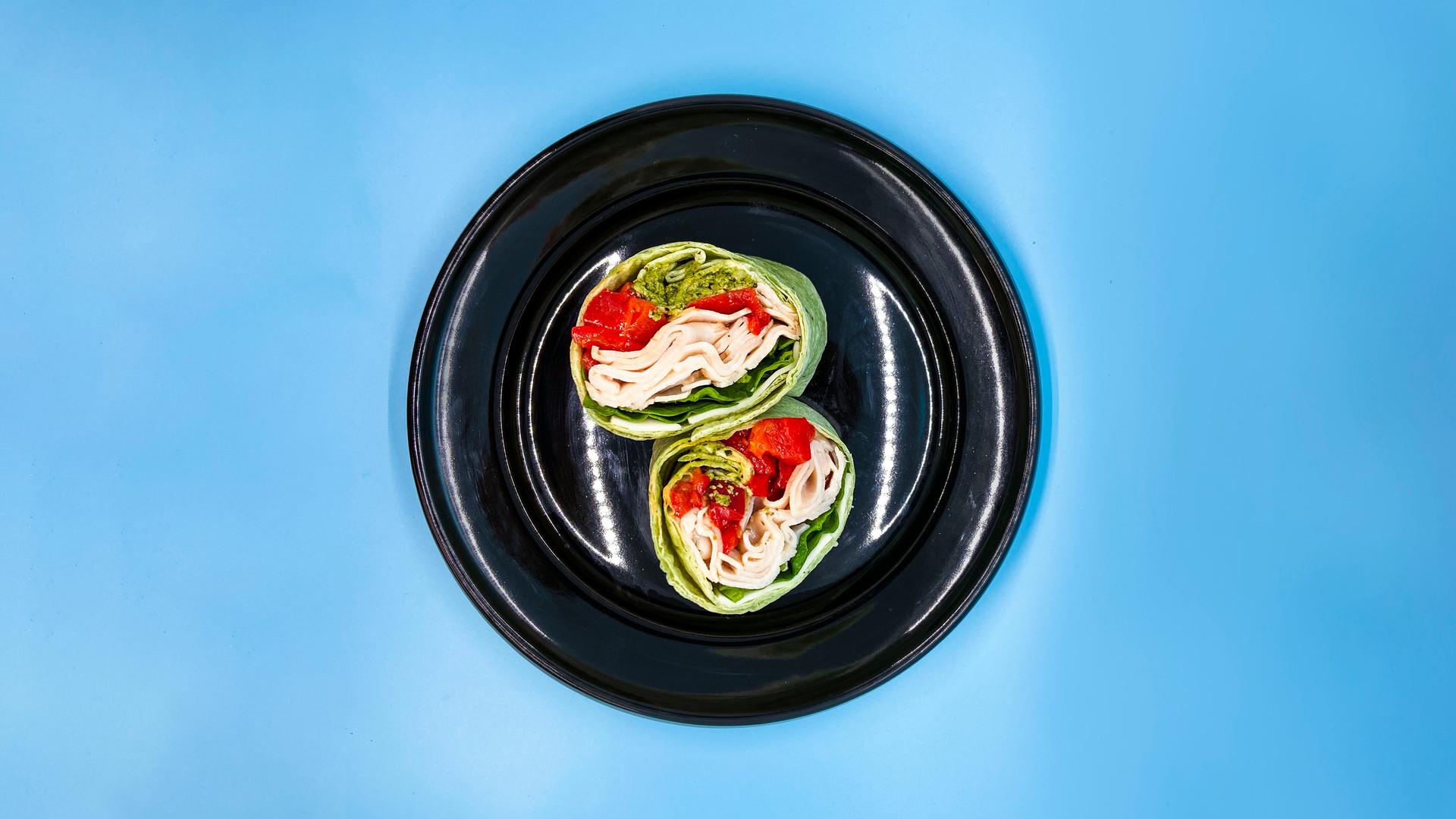TurkeyPestoWrap_plate-overhead-blue.jpg
