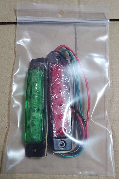 Red / Green Boat Navigation LED Marker Light Pair