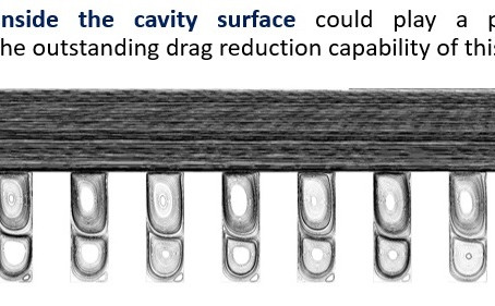Drag Reduction Using Microcavity on Flat Surface