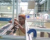 M A Hannan in Hydraulics Lab