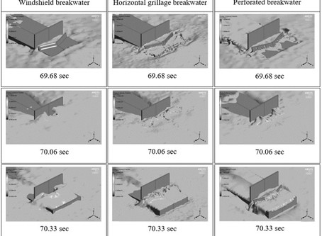 Design of Breakwaters to Minimize Greenwater Loading on Bow Structures of Fixed Floating Vessels