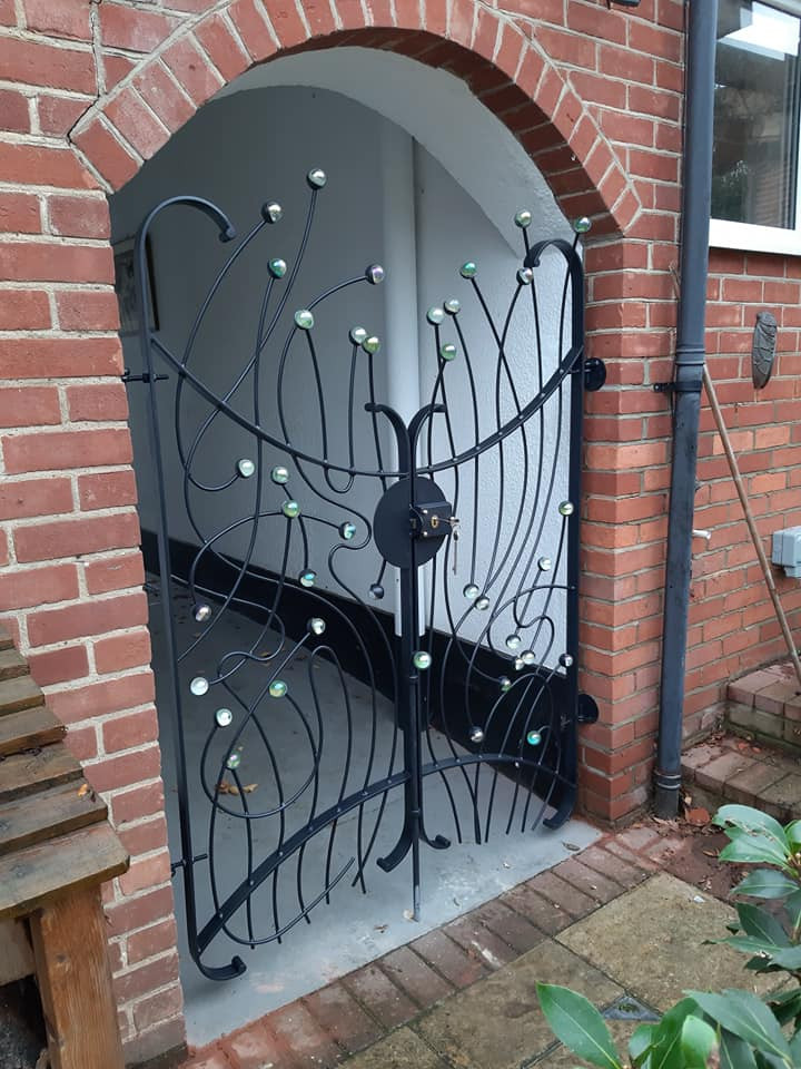 Angel Wing Gates with marbles