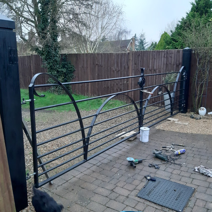 traditional gate installed