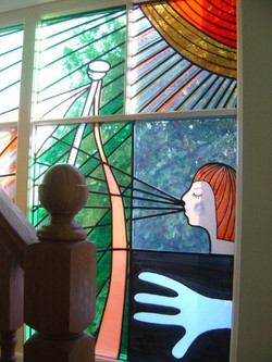 Contemporary stained glass commission