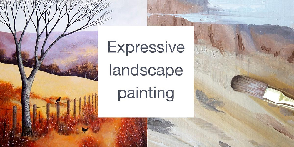 landscape paintings in oils and acrylics