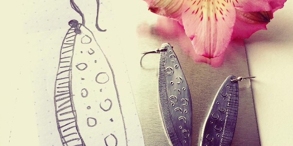 Aluminium and Silver Earring Making