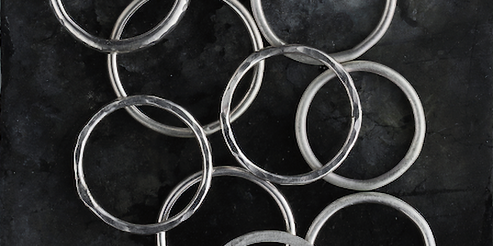 Jewellery - Make a set of Silver Stacking Rings: £80 4-hour weekend workshop