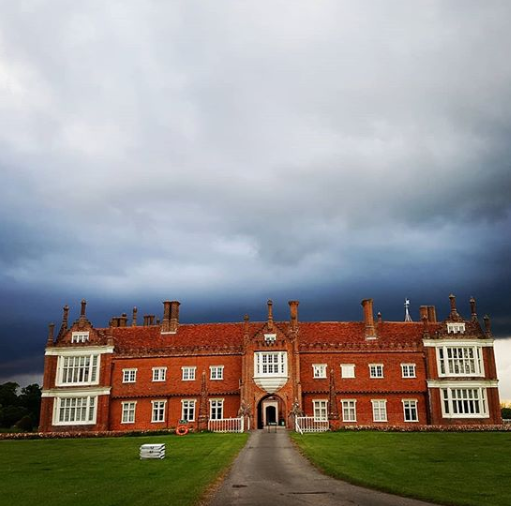 Helmingham hall from the front