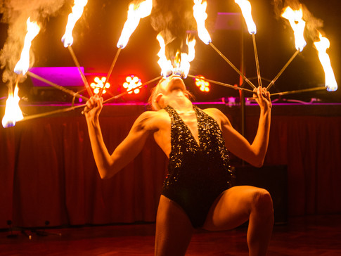 Lauren and her incredible firebreathing routine