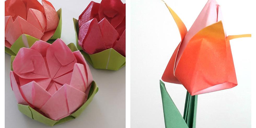 Origami Flower Making - £35 - 2-hour evening workshop