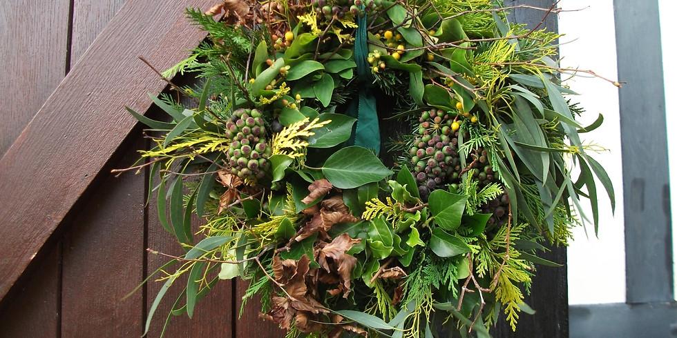 Christmas Wreath-making Workshop - £20, 2-hour evening workshop