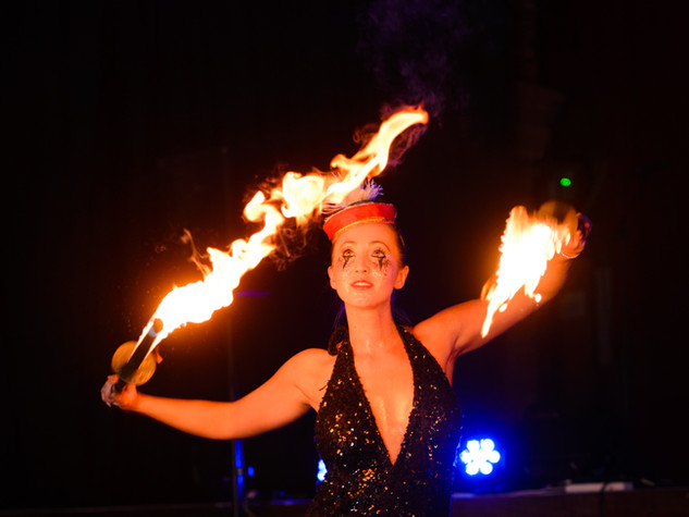 Fire breathing routine was hot!
