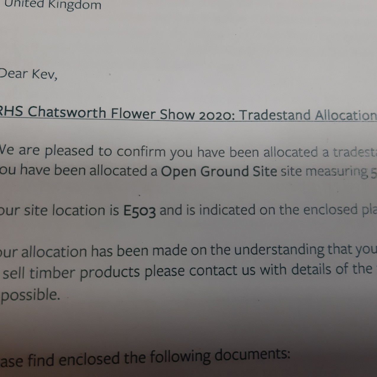 RHS Chatsworth Flower Show acceptance le