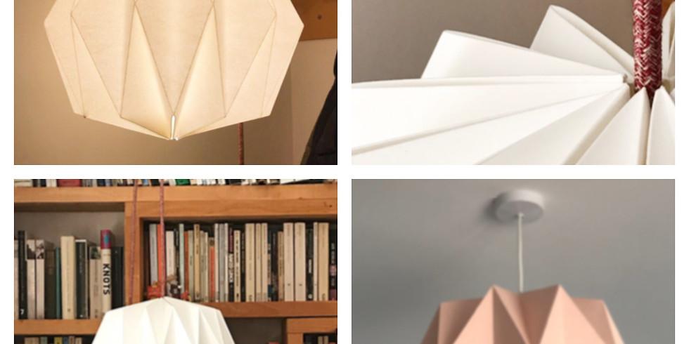 Folded Paper Lampshade Making - £50 - 4-hour Saturday workshop