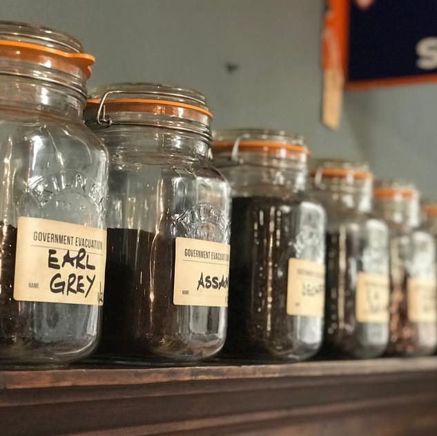A variety of loose leaf teas