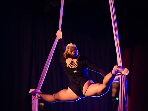 Jess and her aerial silk skills