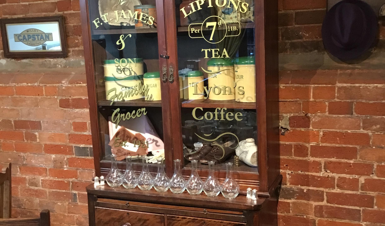 Vintage tea cabinet