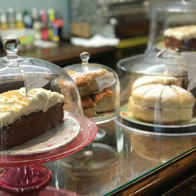 Freshly-baked cakes: Tea at The SHED