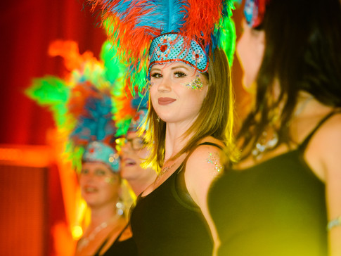 Suffolk School of Samba and their incredible feathers
