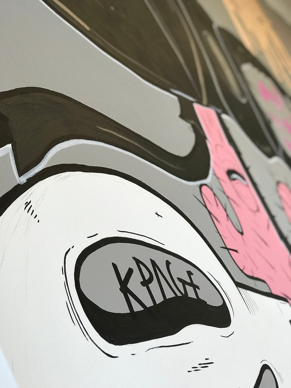a mural by kieran page illustration on our workshop wall