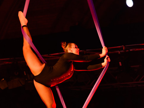 Aerial silk artistry at its best