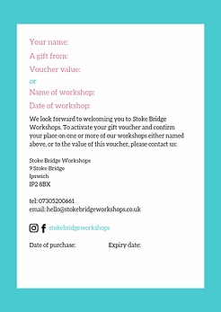Stoke Bridge Workshops Gift Voucher copy