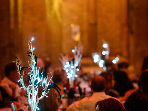 Sparkling centrepieces added to the atmosphere