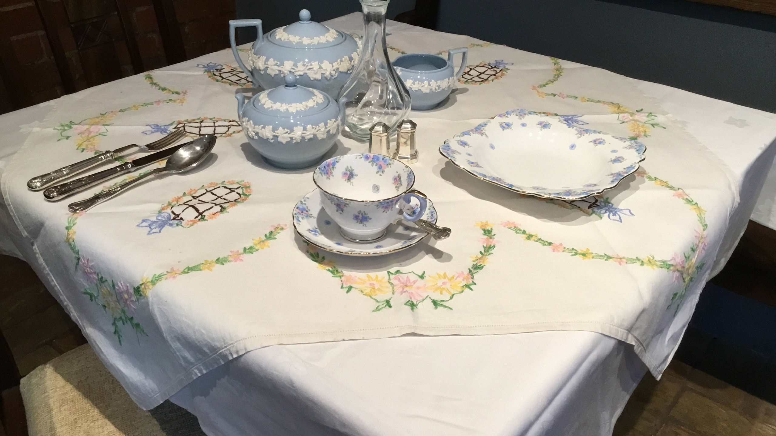 Forties-style afternoon tea