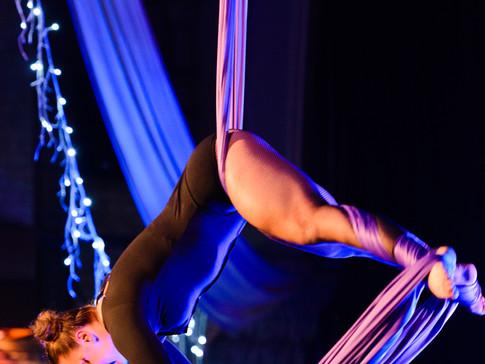 Incredible aerial silk artist Jess