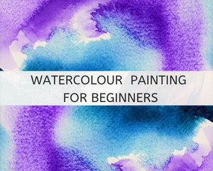 Watercolour painting workshop advert