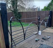Heavy Victorian-style gates