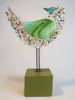 Fused glass sculpture