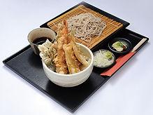 海老と鱚の天丼定食