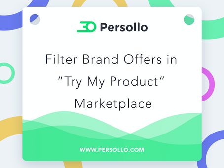 """Product Update: Add Shipping Cost + Filter Brand Offers in """"Try My Product"""" Marketplace"""