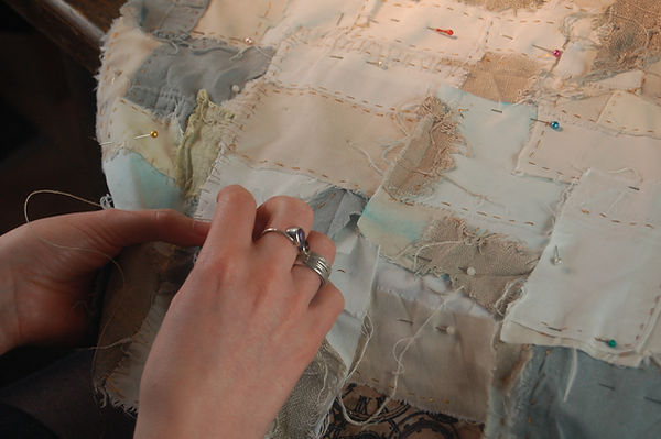 Hand embroidery. Textile Art