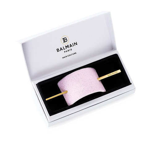 Balmain limited hair barrette crystal pink ( flannel included )