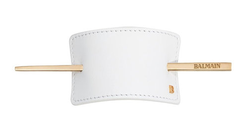 Balmain hair barrette gift set white 14 K ( flannel included )