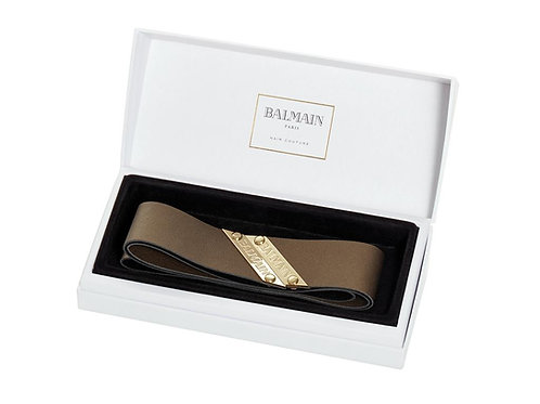 Balmain genuine leather headband bronze