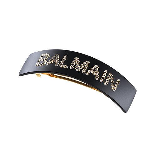 Balmain acetate logo barrette pour cheveux L FW19 balmain logo
