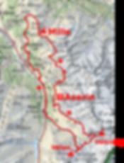 Carte du Trail du Vélan 45 km