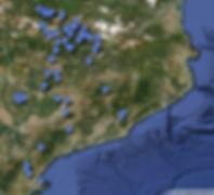 Mapa amb les EMD de Catalunya