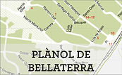 Plànol amb els carrers de l'EMD de Bellaterra